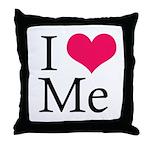 I Heart Me Throw Pillow White / Red / Black