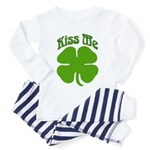 Kiss Me I'm Irish Toddler Pajamas