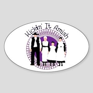 Riyah-Li Designs Kickin' It Amish Sticker (Oval)