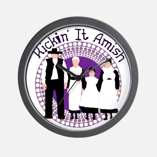 Riyah-Li Designs Kickin' It Amish Wall Clock