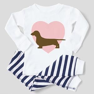 e33978dba Dachshund Weiner Dog Toddler Pajamas - CafePress