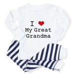 I Heart My Great Grandma Toddler Pajamas