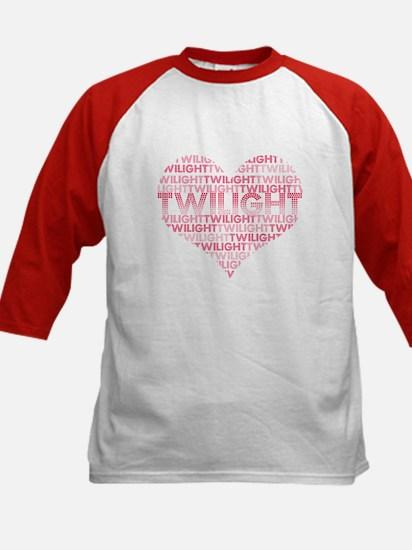 Twilight Heart Kids Baseball Jersey