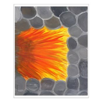Glossy Fireplace Print!