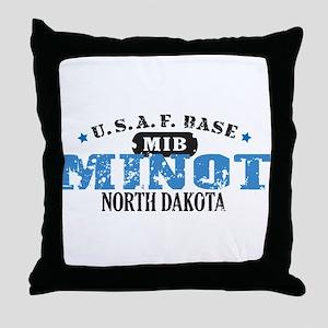 Minot Air Force Base Throw Pillow