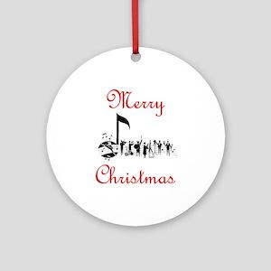 Musicial Christmas Ornament (Round)