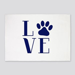 Love Dogs 5'x7'Area Rug