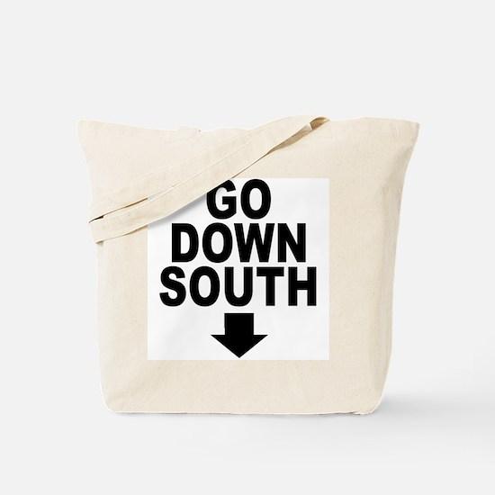 Go Down South ↓ Tote Bag