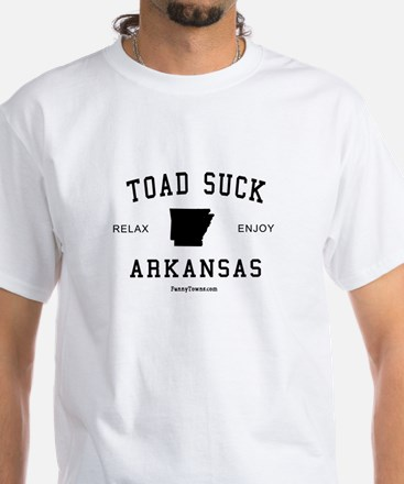 Toad Suck (AR) Arkansas Tees White T-Shirt