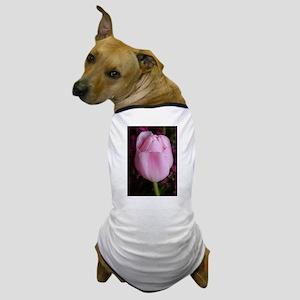 Pink Tullip Dog T-Shirt