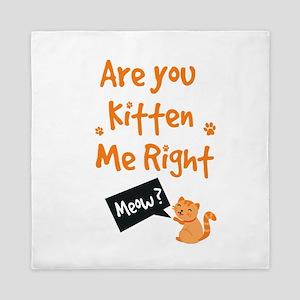 Are You Kitten Me Queen Duvet