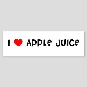 I LOVE APPLE JUICE Bumper Sticker