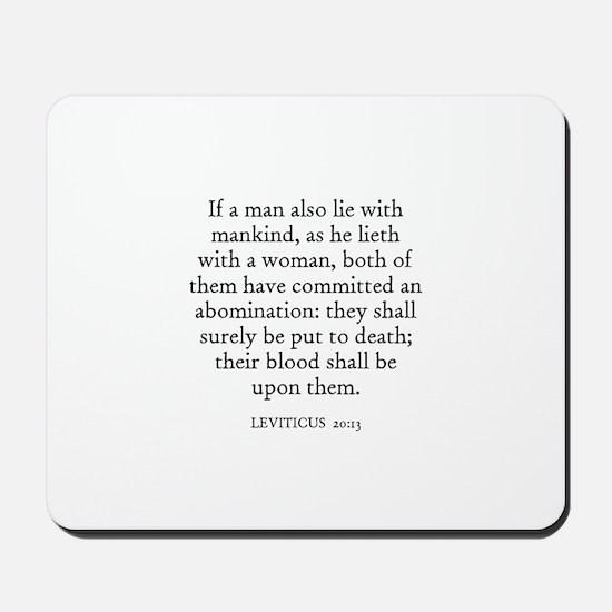LEVITICUS  20:13 Mousepad