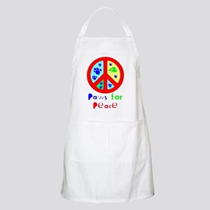 Paws for Peace Red BBQ Apron