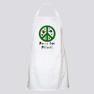 Paws For Peace Green BBQ Apron
