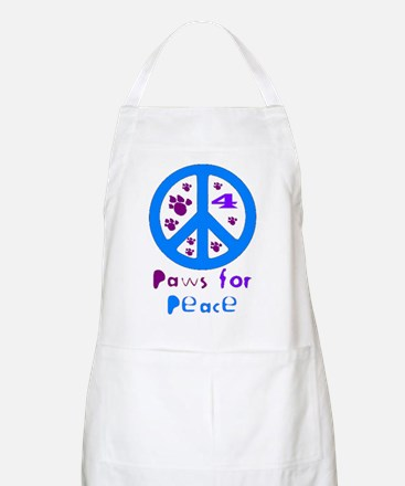 Paws for Peace Blue BBQ Apron