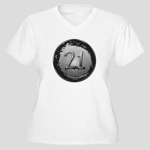 Cool 21st Birthday Women's Plus Size V-Neck T-Shir