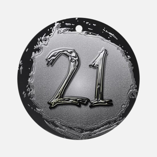 Cool 21st Birthday Ornament (Round)