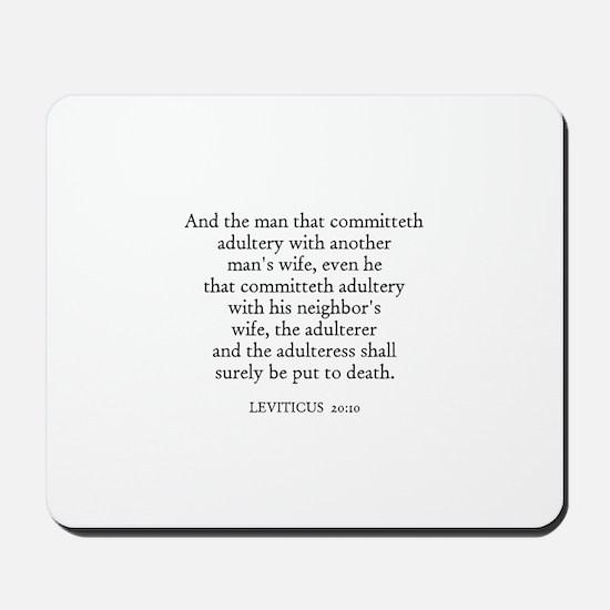 LEVITICUS  20:10 Mousepad