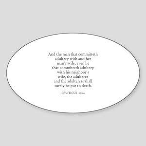 LEVITICUS 20:10 Oval Sticker