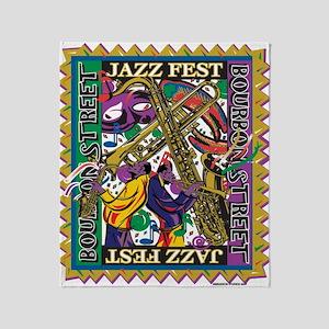 Jazz Fest Throw Blanket