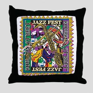 Jazz Fest Throw Pillow