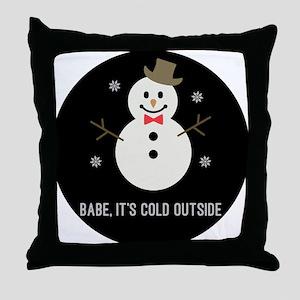 Snow Gent Throw Pillow