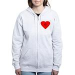 copyright heart Women's Zip Hoodie
