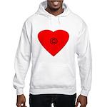 copyright heart Hooded Sweatshirt