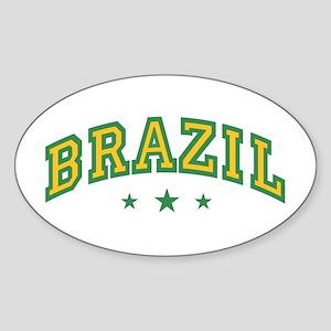 Brazil Oval Sticker