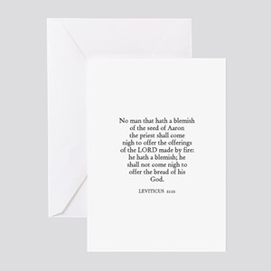 LEVITICUS  21:21 Greeting Cards (Pk of 10)