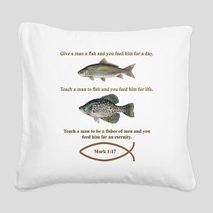 Fishermen Square Canvas Pillow