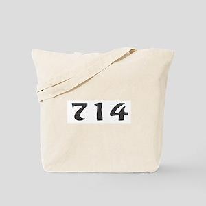 714 Area Code Tote Bag