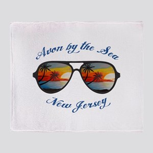 New Jersey - Avon by the Sea Throw Blanket