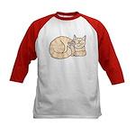 Orange Tabby ASL Kitty Kids Baseball Jersey