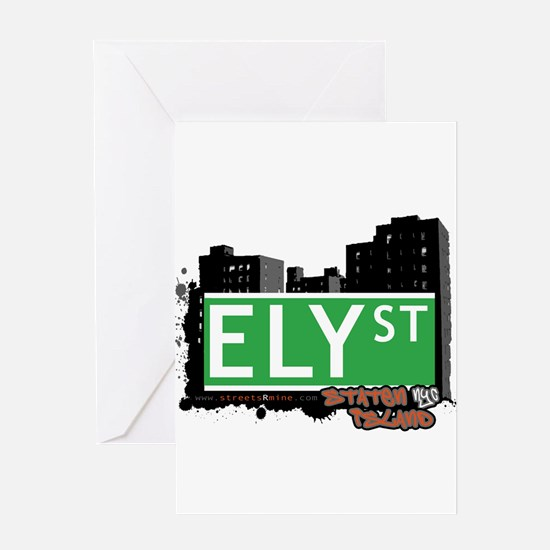 ELY STREET, STATEN ISLAND, NYC Greeting Card