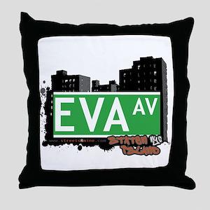 EVA AVENUE, STATEN ISLAND, NYC Throw Pillow