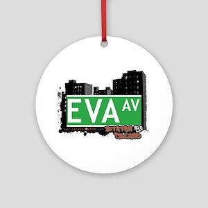 EVA AVENUE, STATEN ISLAND, NYC Ornament (Round)