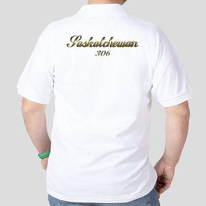 Saskatchewan Canada 306 area code  Golf Shirt