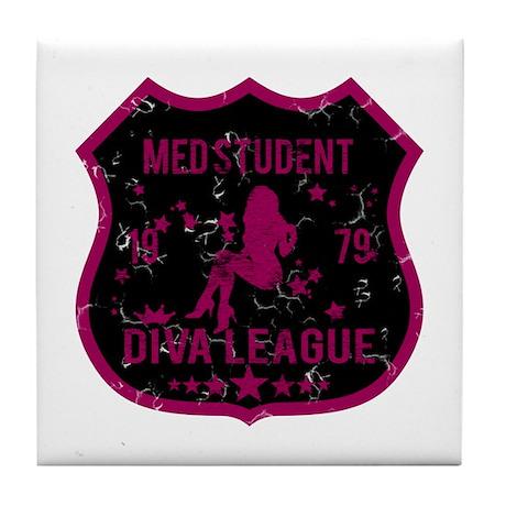 Med Student Diva League Tile Coaster