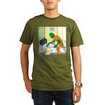 Fish Guy Plumber Organic Men's T-Shirt (dark)