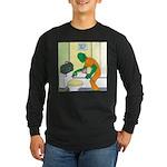 Fish Guy Plumber Long Sleeve Dark T-Shirt