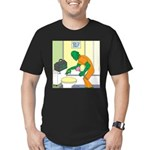 Fish Guy Plumber Men's Fitted T-Shirt (dark)