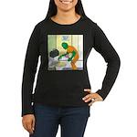 Fish Guy Plumber Women's Long Sleeve Dark T-Shirt