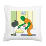 Fish Guy Plumber Square Canvas Pillow