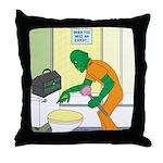 Fish Guy Plumber Throw Pillow