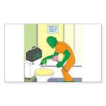 Fish Guy Plumber Sticker (Rectangle 50 pk)