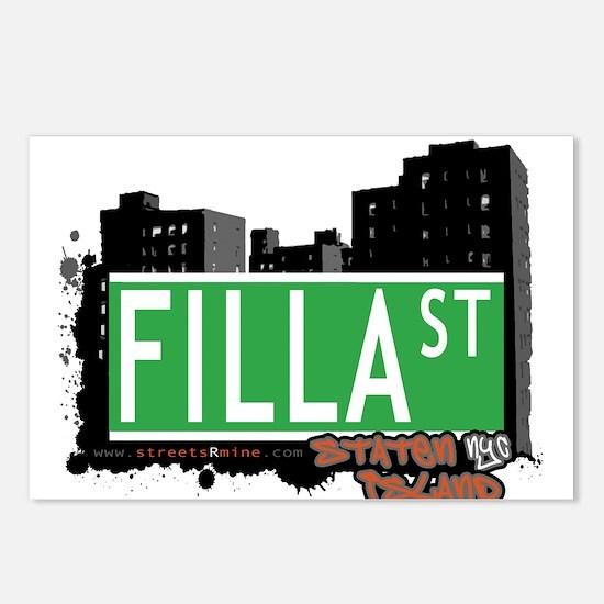 FILLA STREET, STATEN ISLAND, NYC Postcards (Packag