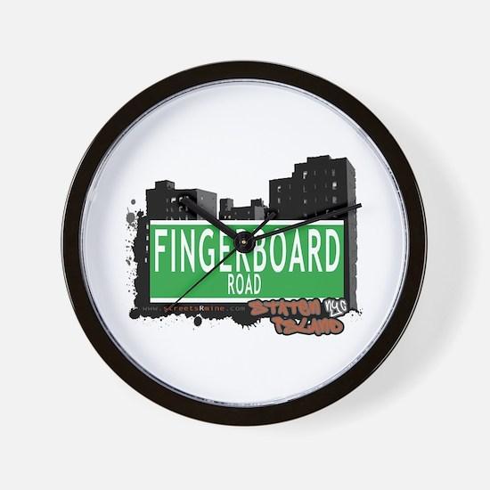 FINGERBOARD ROAD, STATEN ISLAND, NYC Wall Clock
