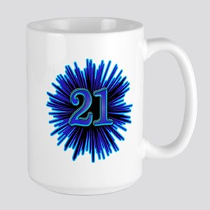 Cool 21st Birthday Large Mug